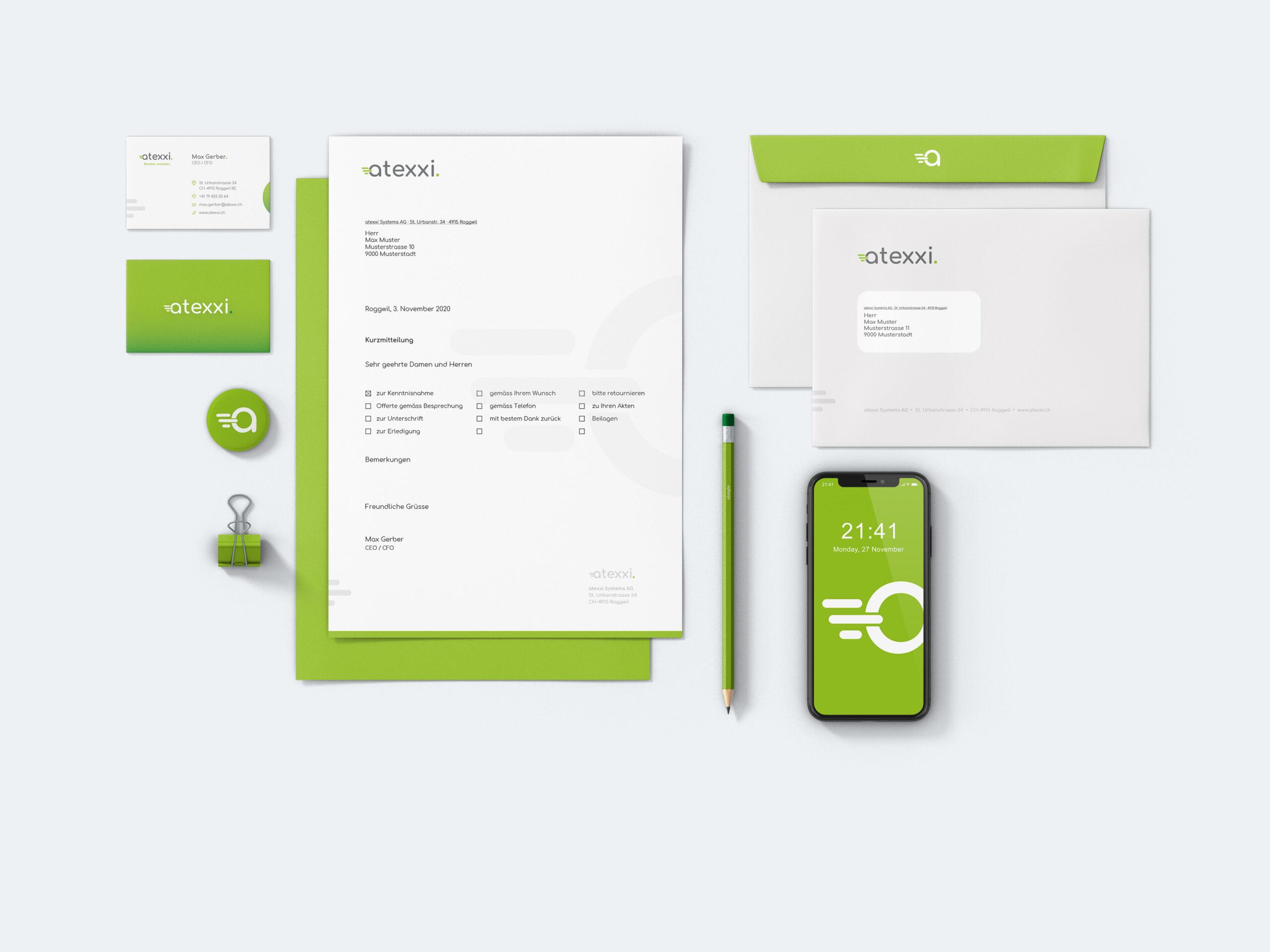 atexxi Systems AG Branding Mockup