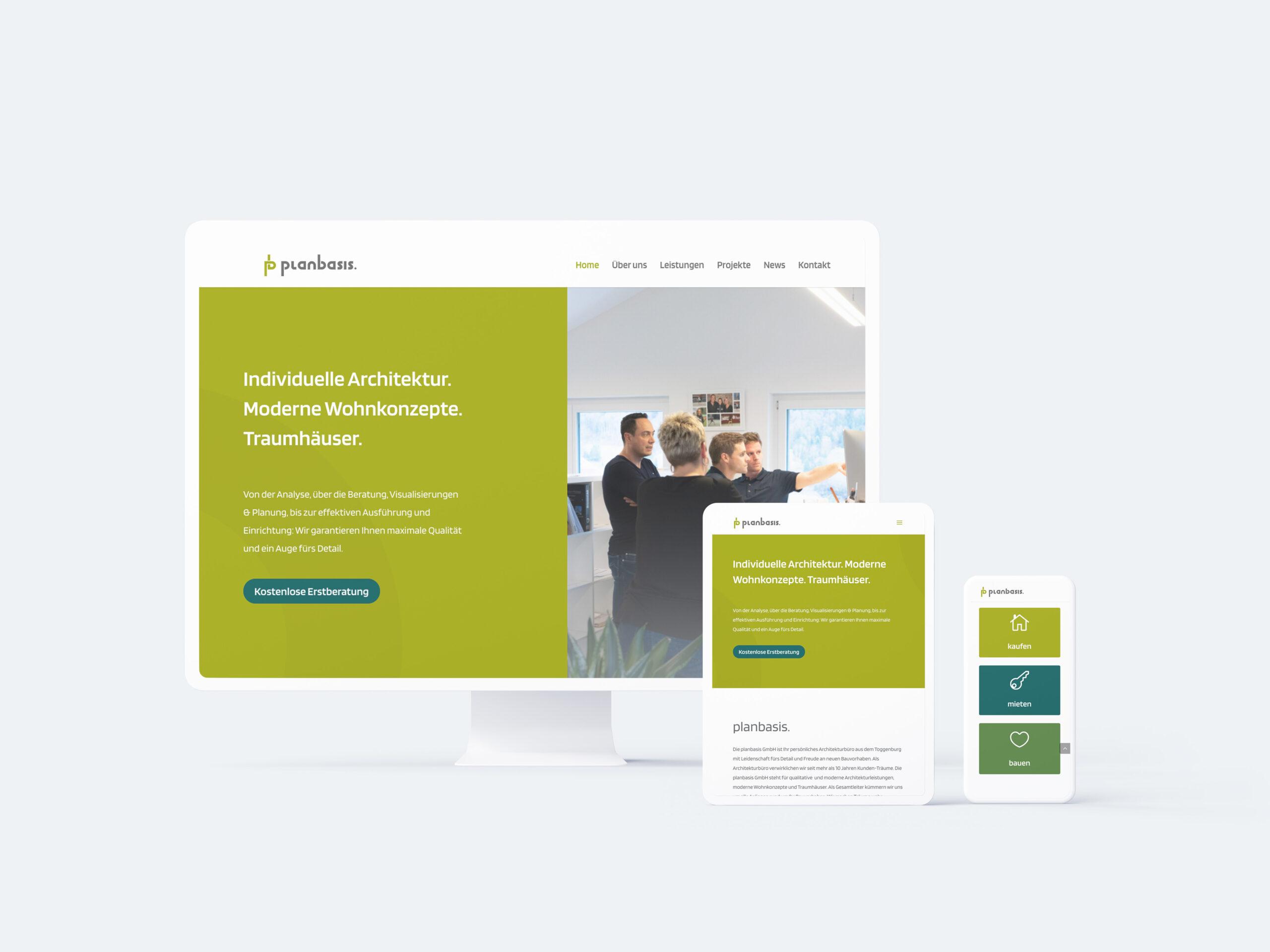 planbasis GmbH Webseite Mockup Responsive