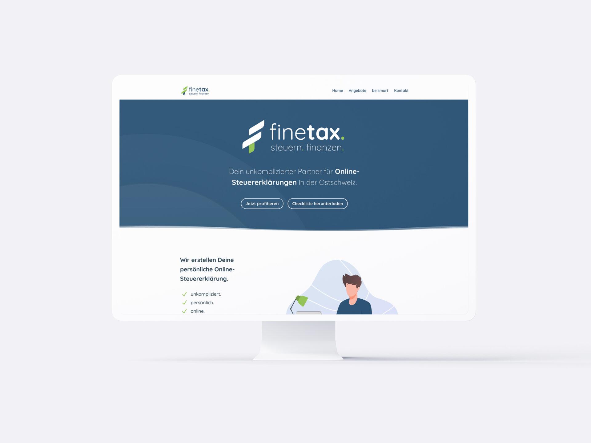 finetax | Online-Steuererklärung Webseite
