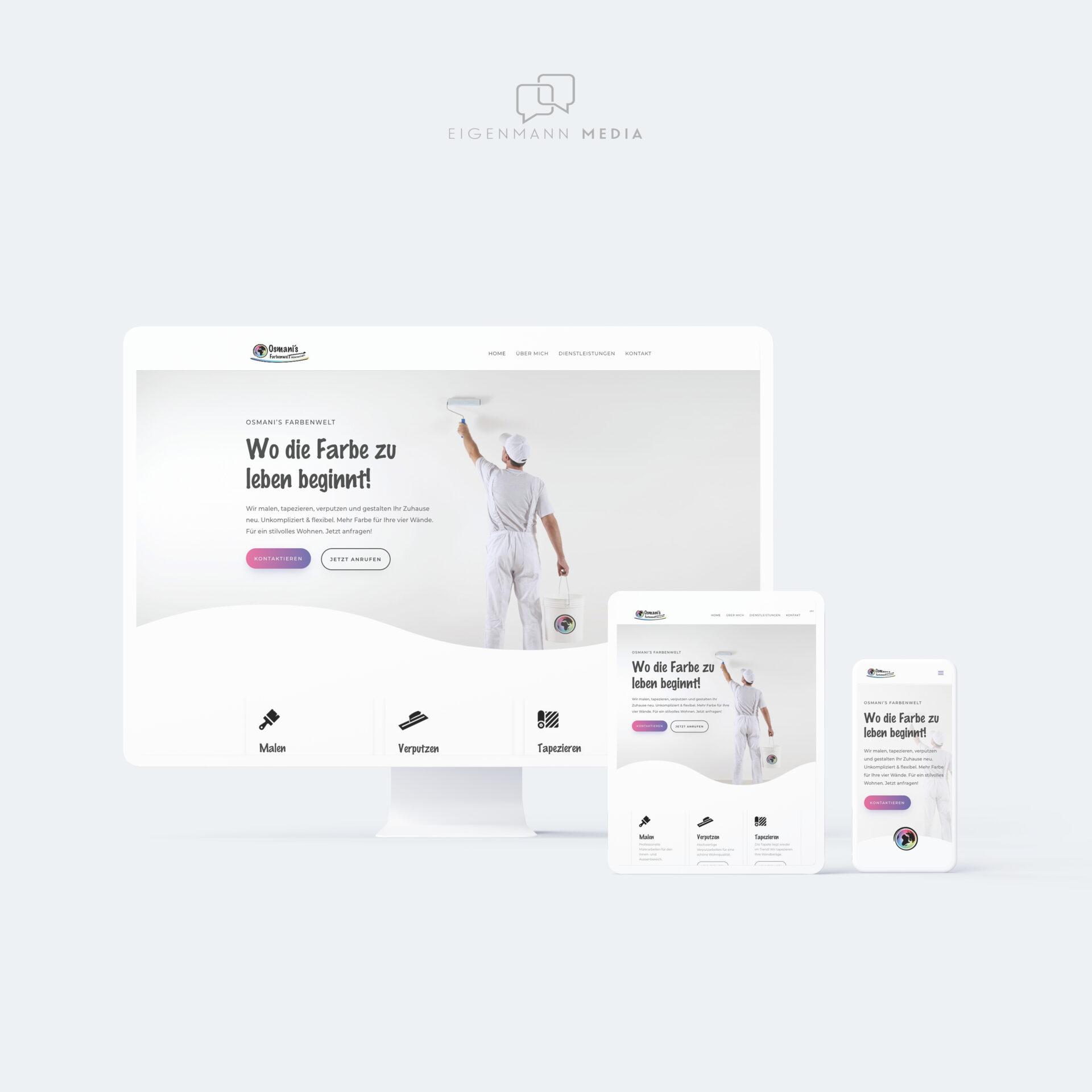 Osmani's Farbenwelt Webdesign